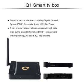 Wechip Q1 octa core android6.0 tv box 2g/16g