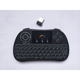 I86 colorful backlit wireless min keyboards