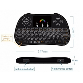 I86 7color Wireless backlit mini keyboards