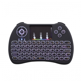 H9 colorful backlit mini keyboards 2.4Ghz Air fly mouse